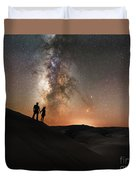 Star Crossed Lovers At Night Duvet Cover
