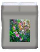 Star Flowers Shine Duvet Cover