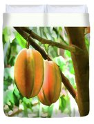 Star Fruit On The Tree Duvet Cover