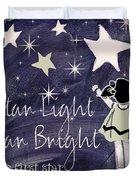 Star Light Star Bright Chalk Board Nursery Rhyme Duvet Cover