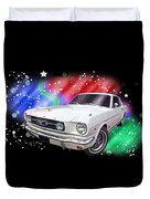 Star Of The Show - 66 Mustang Duvet Cover