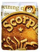 Star Sign In Scorpio Duvet Cover