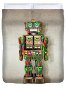 Star Strider Robot Psyc Duvet Cover