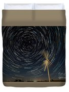 Star Trail In Hays, Ks Duvet Cover