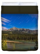 Star Trails Above The Front Ranges Duvet Cover