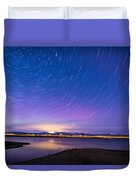 Star Trails And Auroras Duvet Cover