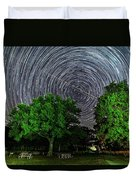 Star Trails At Sunken Meadow State Park Duvet Cover