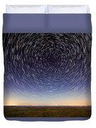 Star Trails Over Mountains Duvet Cover