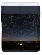 Star Trails Over Whitesburg Duvet Cover