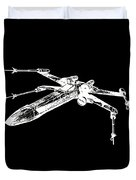 Star Wars T-65 X-wing Starfighter White Ink Tee Duvet Cover