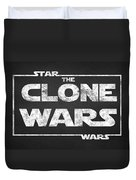 Star Wars The Clone Wars Chalkboard Typography Duvet Cover