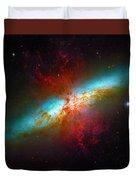 Starburst Galaxy M82 Duvet Cover