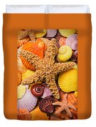 Starfish And Seashells  Duvet Cover