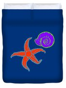 Starfish And Shell Duvet Cover