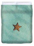 Starfish Aquamarine Duvet Cover