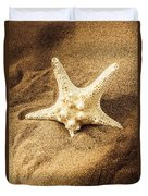 Starfish In Sand Duvet Cover