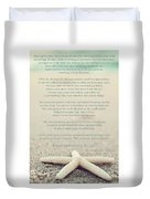 Starfish Make A Difference Vintage Set 1 Duvet Cover