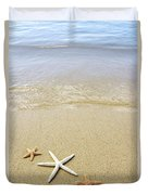 Starfish On Beach Duvet Cover