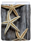 Starfishes In Wooden Duvet Cover
