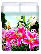 Stargazer Lilies #1 Duvet Cover