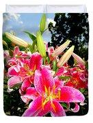 Stargazer Lilies #2 Duvet Cover