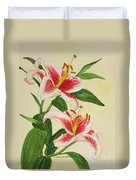 Stargazer Lilies - Watercolor Duvet Cover