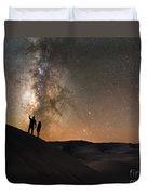 Stargazers Under The Night Sky Duvet Cover