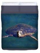Staring Turtle Duvet Cover
