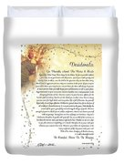 Starry Guardian Angel Desiderata Duvet Cover
