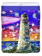 Starry Light Duvet Cover by Monique Faella