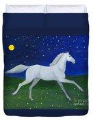 Starry Night In August Duvet Cover