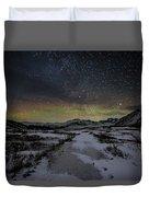 Starry Night In Iceland Duvet Cover