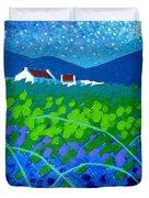 Starry Night In Wicklow Duvet Cover by John  Nolan