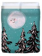 Starry Night Moon  Duvet Cover