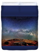 Starry Night Over Mesa Arch Duvet Cover