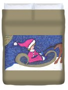 Starry Sleigh Ride Duvet Cover