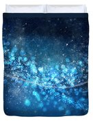 Stars And Bokeh Duvet Cover by Setsiri Silapasuwanchai