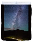 Stars And Car Trails Duvet Cover