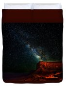 Stars And The Mountain Duvet Cover
