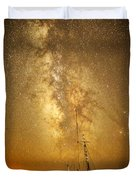Stars Over Fishing Boat Duvet Cover