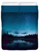 Stars Over Lake Vermilion Duvet Cover