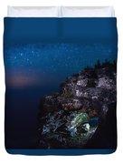 Stars Over The Grotto Duvet Cover
