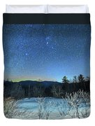 Stars Over The New Hampshire White Mountains Duvet Cover