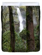 Starvation Creek Falls Between The Trees Duvet Cover