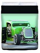 'starv'n Marvin' Hot Rod Pickup Duvet Cover