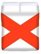 State Flag Of Alabama Duvet Cover
