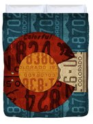 State Flag Of Colorado Recycled License Plate Art Duvet Cover