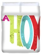 State Of Oklahoma Typography Duvet Cover