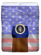 State Of The Union Podium Duvet Cover
