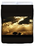 Stately American Bison Duvet Cover